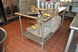 """Stainless Steel Prep Table, 36"""" x 72"""" w/ #10 Can Opener"""
