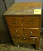 Antique Library Bureau Sole Makers Wooden Unit