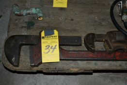 "LOT - 3 Pipe Wrenches (18"", 36"", 48"")"
