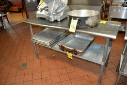 """Stainless Steel Prep Table, 24"""" x 60"""""""