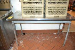 "Stainless Steel Prep Table w/ Extra Shelf, 30"" x 60"""