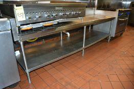 """Stainless Steel Stand w/ Extra Shelf, 101"""" x 30"""""""