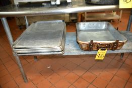 LOT - Trays, Roasting Pan & Inserts