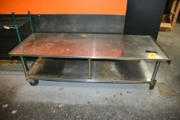 """Rolling Stainless Steel Stand, 30"""" x 72"""""""