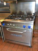 Bakers Pride 6-Burner Range w/ 1-Door Broiler