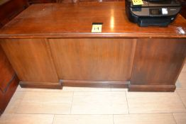 LOT - 3' x 4' Wood Desk and Chair