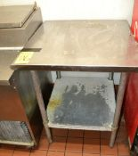 """Stainless Steel Prep Table, 30"""" x 30"""""""