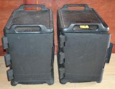 (2) Carlisle 12-Tray Holding Cabinets