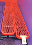 Red 8' Plastic Coated Benches