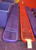 Red / Purple 10' Plastic Coated Benches