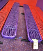 Purple 8' Plastic Coated Benches