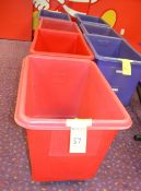 Red Rolling Plastic Hampers