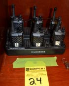 Lot - Radio Boss Charger with (6) Radios