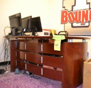 L-Shaped Desk with Credenza and Hutch Top