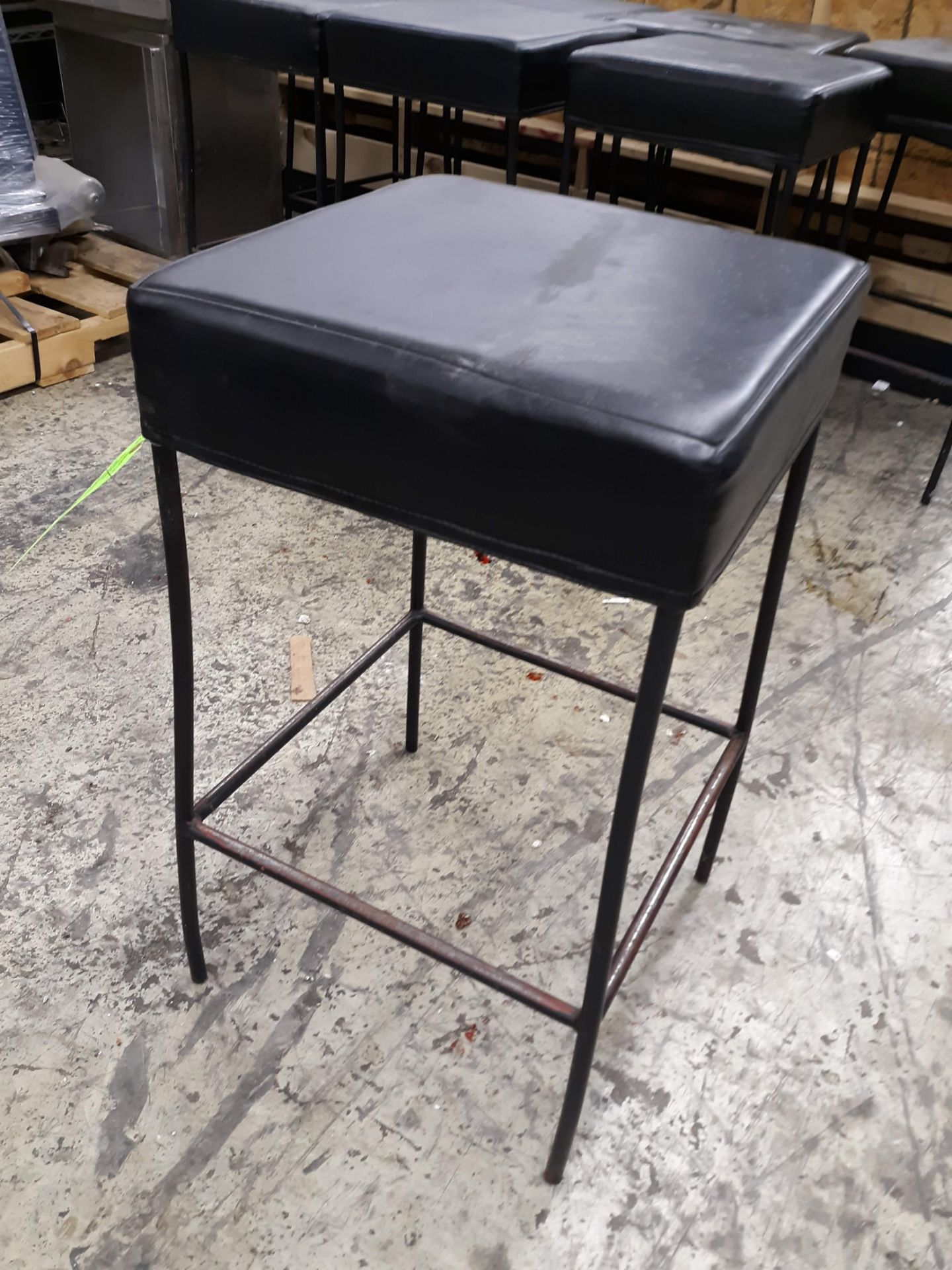 """Lot 1256 - (8) SQUARE PADDED BAR STOOLS 16"""" X 16"""" X 30"""" TALL (LOCATED AT: 433 COUNCIL DRIVE, FORT WAYNE, IN"""