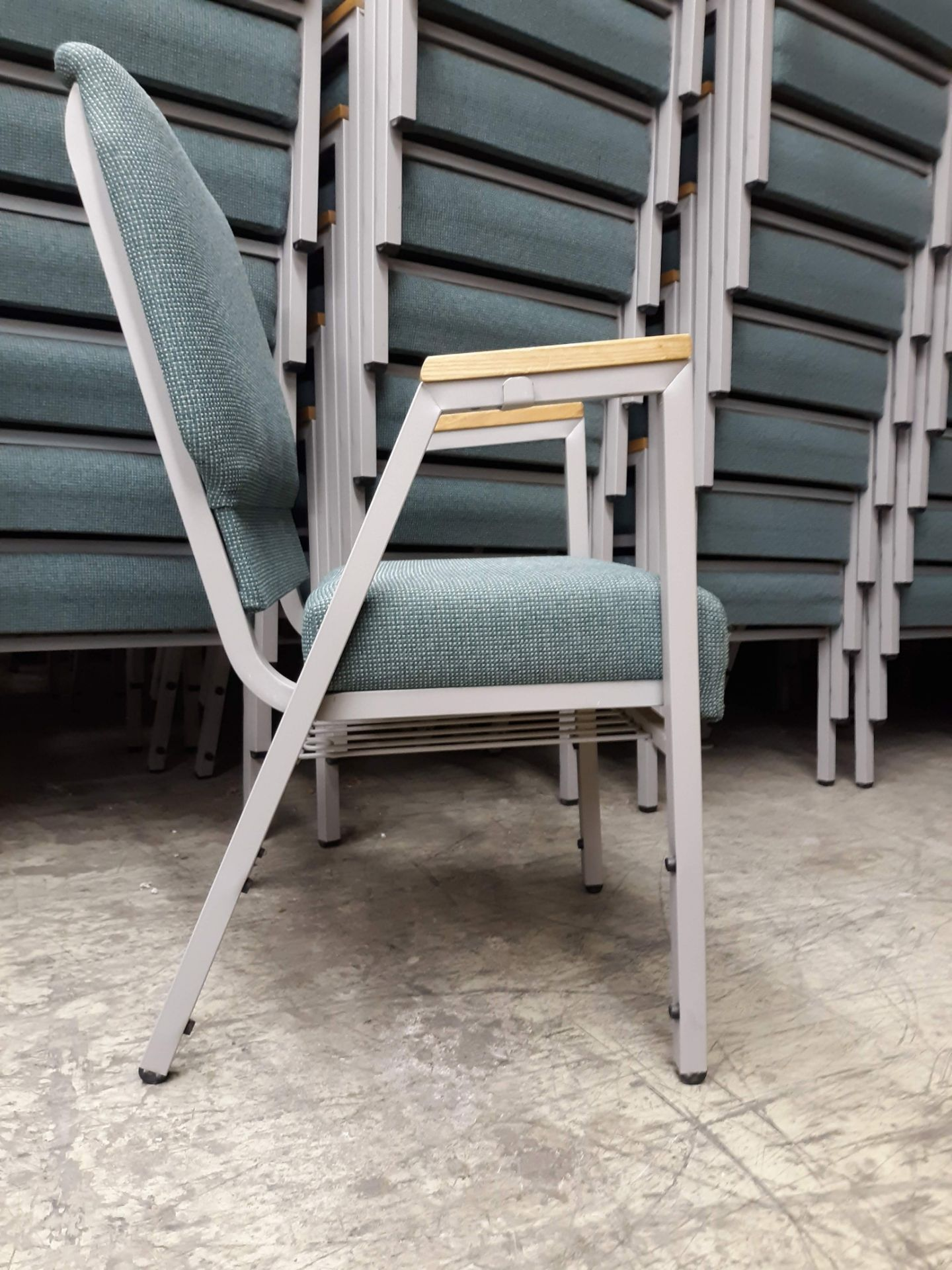 Lot 1227 - (10) CHURCH CHAIR INDUSTRIES FABRIC PADDED STEEL FRAME CHAIRS(LOCATED AT: 433 COUNCIL DRIVE, FORT