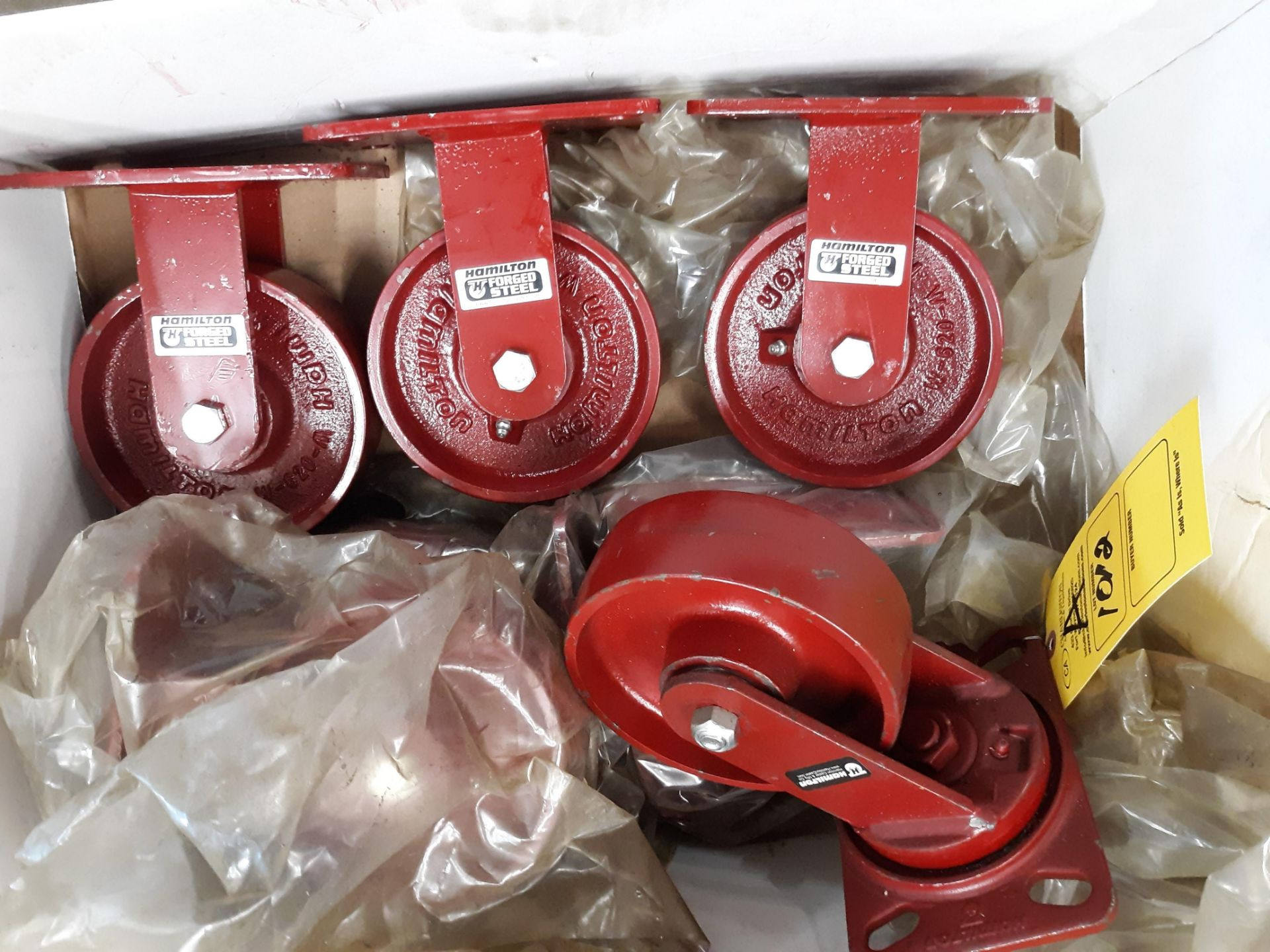 Lot 1012 - (7) STEEL CASTERS (LOCATED AT: 432 COUNCIL DRIVE, FORT WAYNE, IN 46825)