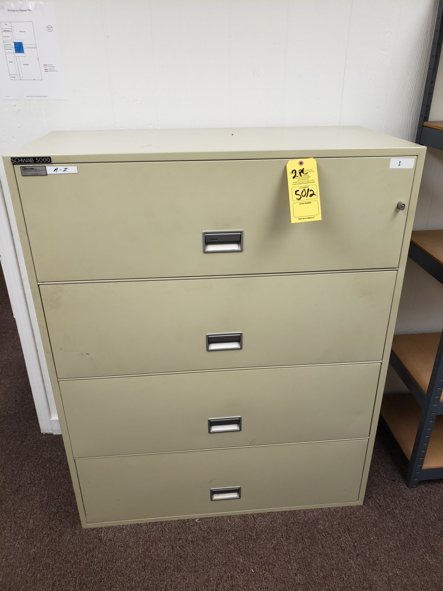 Lot 5012 - LOT OF (2) SCHWAB 5000 FILE CABINET (LOCATED AT: 16335 LIMA ROAD BLDG. 4 HUNTERTOWN, IN 46748)