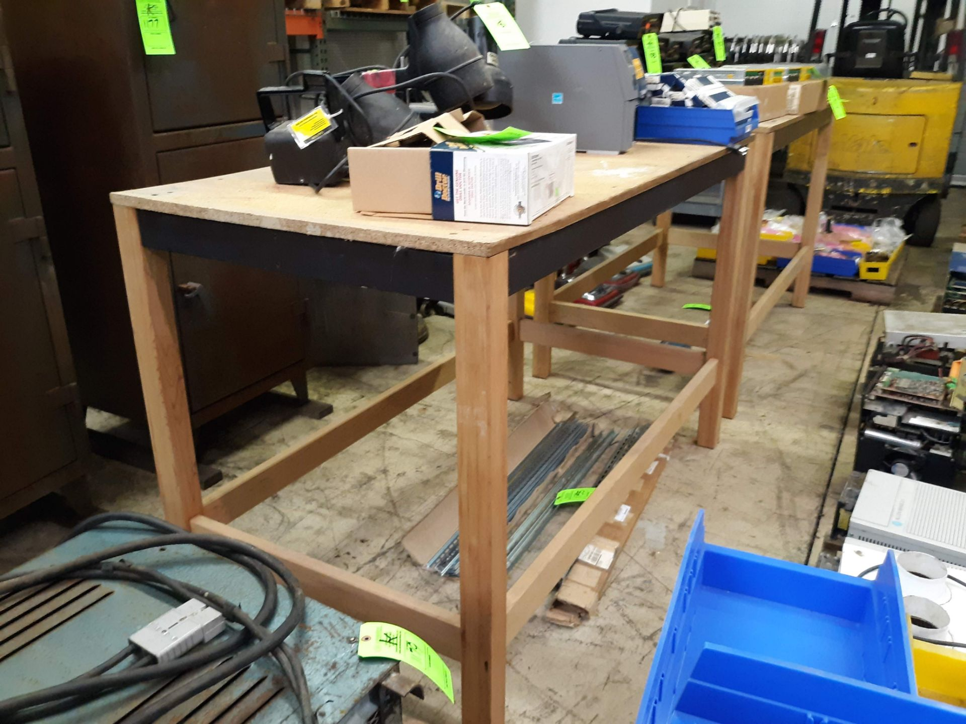 "Lot 1189 - (2) WOOD FRAME TABLES APPROX. 66"" X 34"" X 43"" TALL (LOCATED AT: 432 COUNCIL DRIVE, FORT WAYNE, IN"