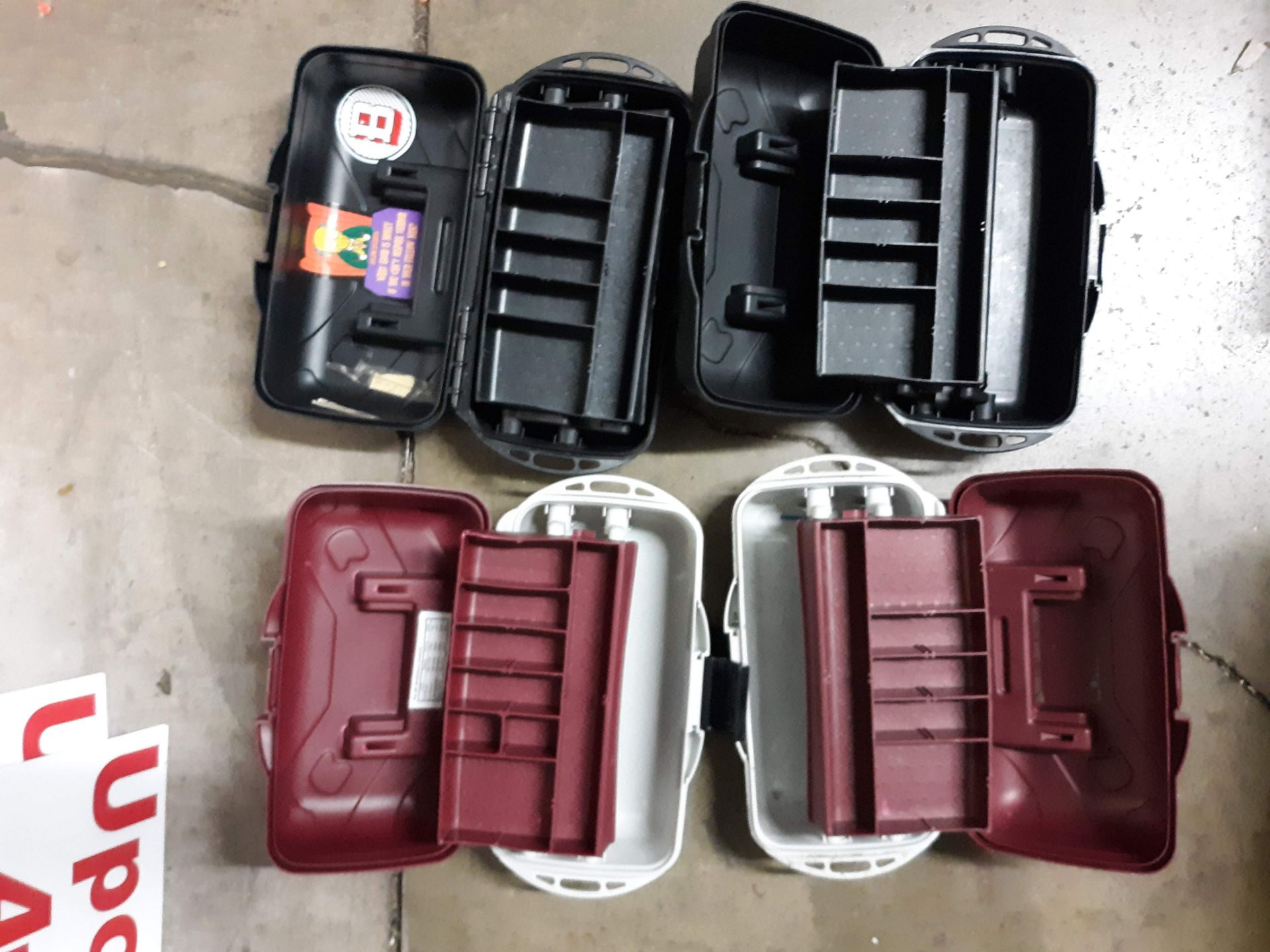 Lot 1104 - (4) PLASTIC TOOL BOX/ TACKLE BOXES (LOCATED AT: 432 COUNCIL DRIVE, FORT WAYNE, IN 46825)