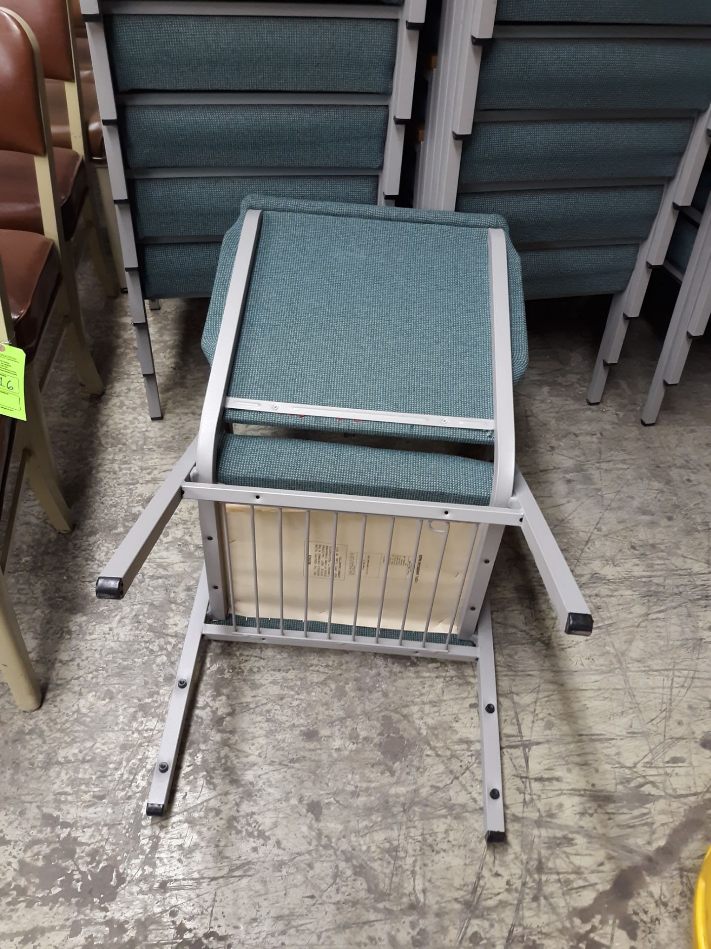 Lot 1219 - (10) CHURCH CHAIR INDUSTRIES FABRIC PADDED STEEL FRAME CHAIRS(LOCATED AT: 433 COUNCIL DRIVE, FORT
