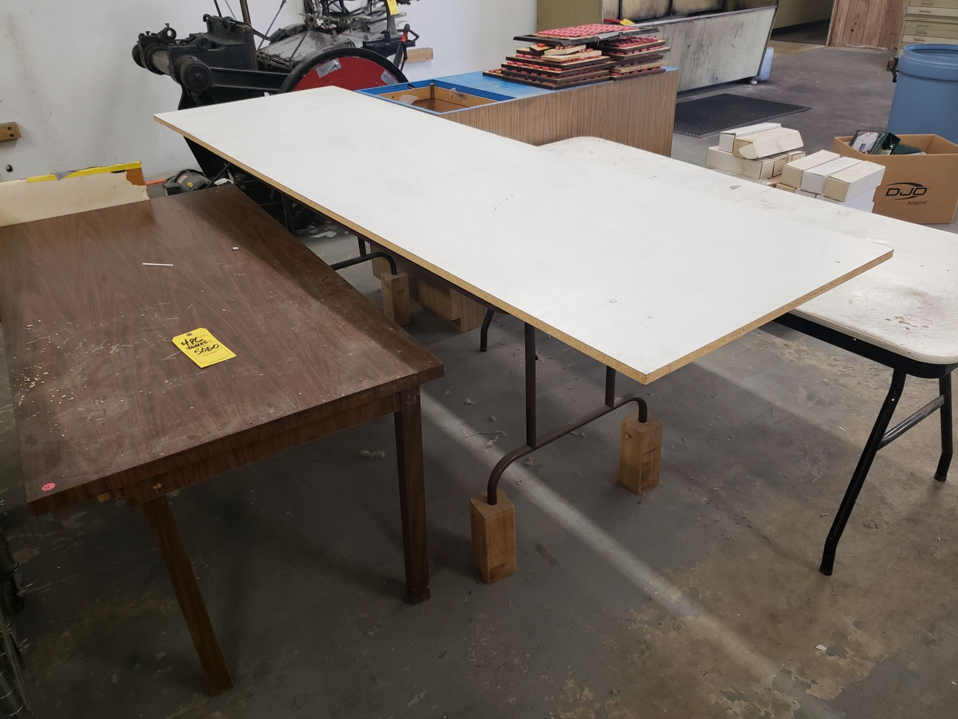 Lot 5050 - LOT OF (3) TABLES & (1) CABINET (LOCATED AT: 16335 LIMA ROAD BLDG. 4 HUNTERTOWN, IN 46748)