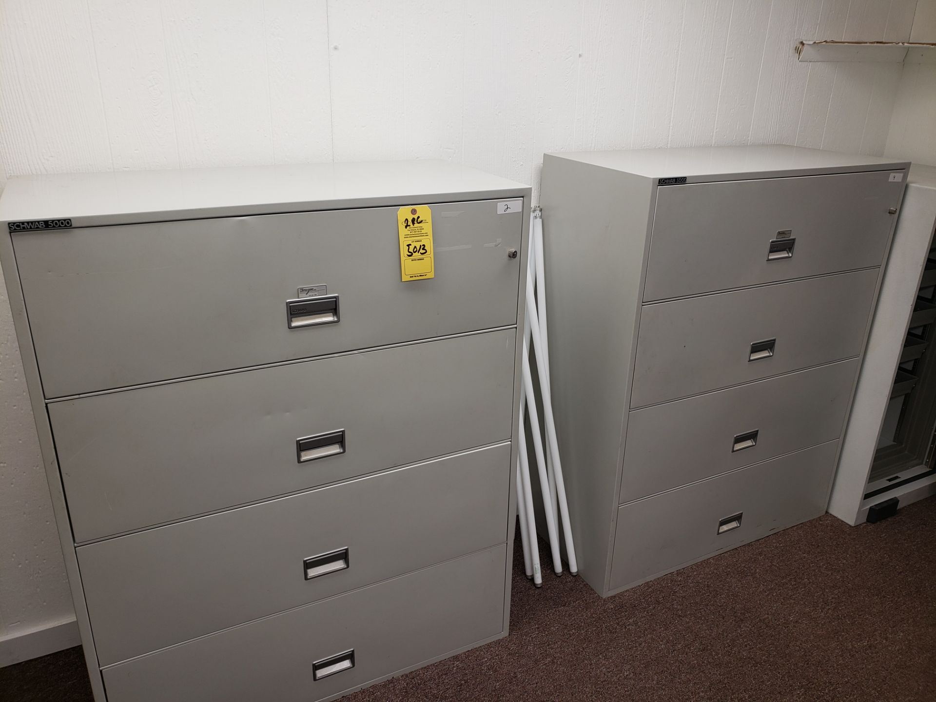 Lot 5013 - LOT OF (2) SCHWAB 5000 FILE CABINET (LOCATED AT: 16335 LIMA ROAD BLDG. 4 HUNTERTOWN, IN 46748)