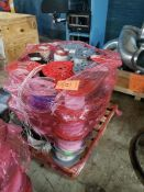 PALLET OF VARIOUS COMMUNICATION WIRE APPROX 48 PARTIAL SPOOLS