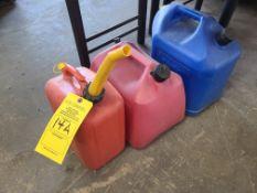 (2) GAS CANS (1) KEROSENE CAN