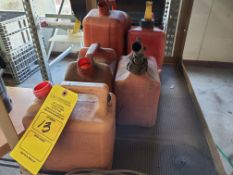 (6) VARIOUS SIZE GAS CANS