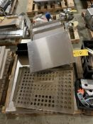 PALLET OF MISC TRAYS/GRATES
