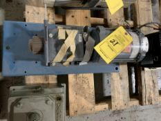 GE 1/4 HP MOTOR GEARED DRIVE & CHENTA SPEED REDUCER (NO TAG)
