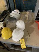 (4) HARD HATS; (2) FACE MASK