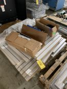 PALLET OF HANG BOARD; SHELVES; AND MISC HARDWARE