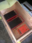 LOT OF RIGGING EQUIPMENT: 3 MACHINE SKATES; (1) 5'X1' NYLON STRAP