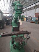"BRIDGEPORT Mill machine S/N J-78103 Table 9"" x 42"" Spindle speeds 80/660 135/1115 210/1750 325/"