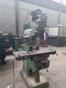 "BRIDGEPORT Mill machine Model 101904 Table 9"" x 30"" / Fresadora"