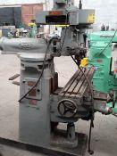 "INDEX Mill Machine Type C000 Model L 1 HP RPM 1000 cycle 60 220 volts 9x46 1/2""/ Fresadora"