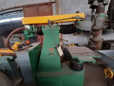 OLIVER INSTRUMENT Co Horizontal Grinder machine Model 3405 S/N 2116 1HP 460 volts 3PH RPM 3450 Table
