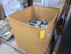 BIN OF VARIOUS PVC ELECTRICAL JUNCTION BOXES