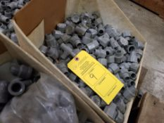 PALLET OF VARIOUS PVC COUPLINGS INSERTS ADAPTERS ETC