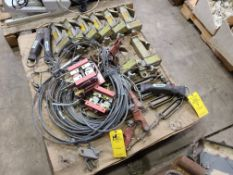PALLET OF BEAM GRIPS AND CABLES