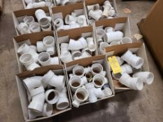 PALLET OF VARIOUS PVC COUPLINGS AND ELBOWS