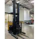 Yale Standup 2500 Lbs Electric Forlift with 11' Triple Mast