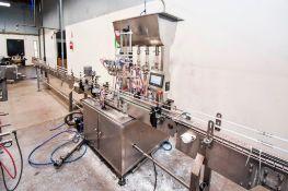 Inline Liquid Filler 4 Head with Liquid VAT