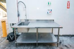 Sink and Table Wash Station Stainless Steel