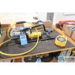 75 TON ENERPAC HYDRAULIC JACK WITH ENERPAC P392FR HYDRAULIC PUMP