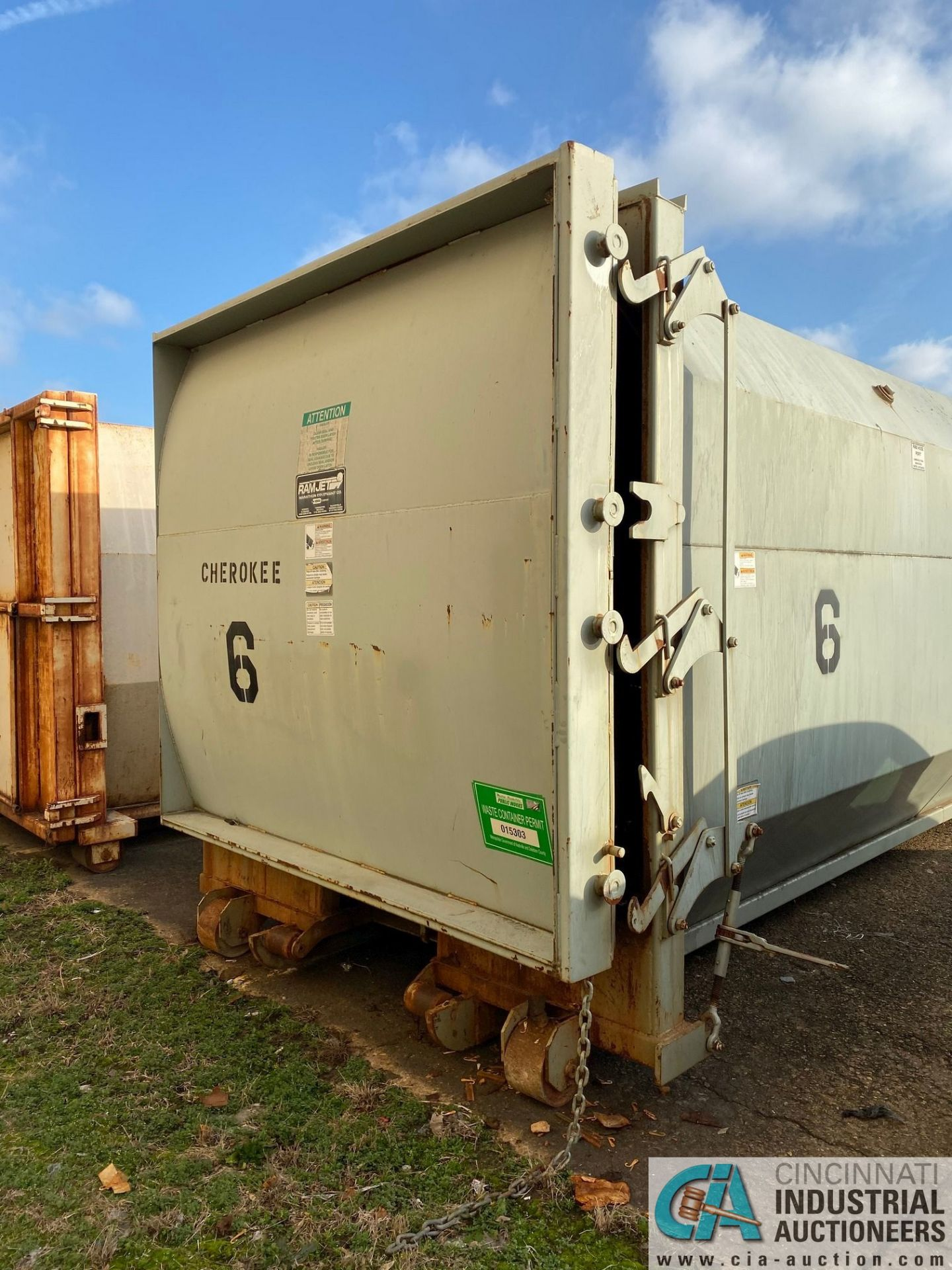 30 YD MARATHON MODEL RJ100-SC-30YD SELF-CONTAINED COMPACTOR/ CONTAINER; S/N 2228709 (2009) 45,200 LB - Image 5 of 7