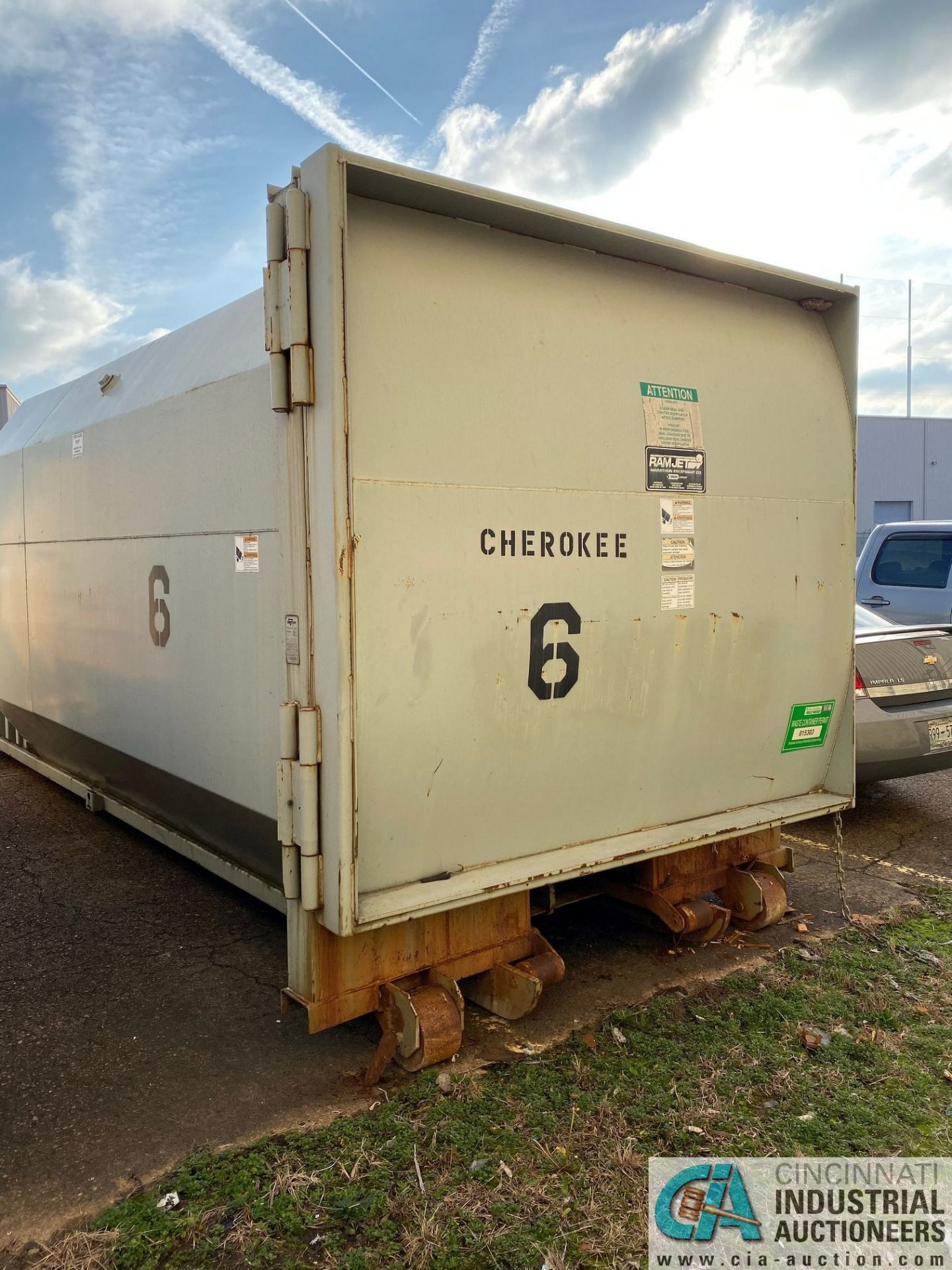 30 YD MARATHON MODEL RJ100-SC-30YD SELF-CONTAINED COMPACTOR/ CONTAINER; S/N 2228709 (2009) 45,200 LB - Image 4 of 7