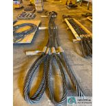 """2-1/2"""" X 20' LIFTING CABLES"""